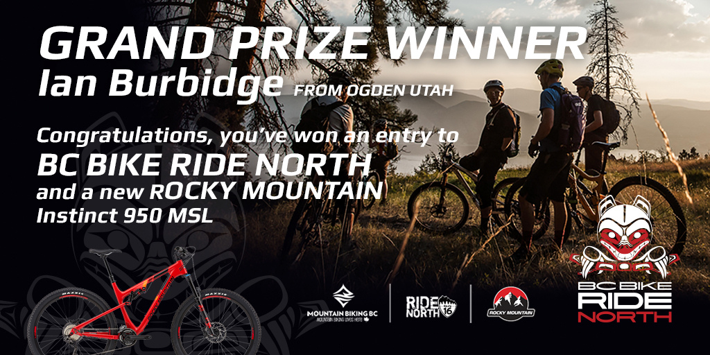 BC Bike Ride Grand Prize Winner