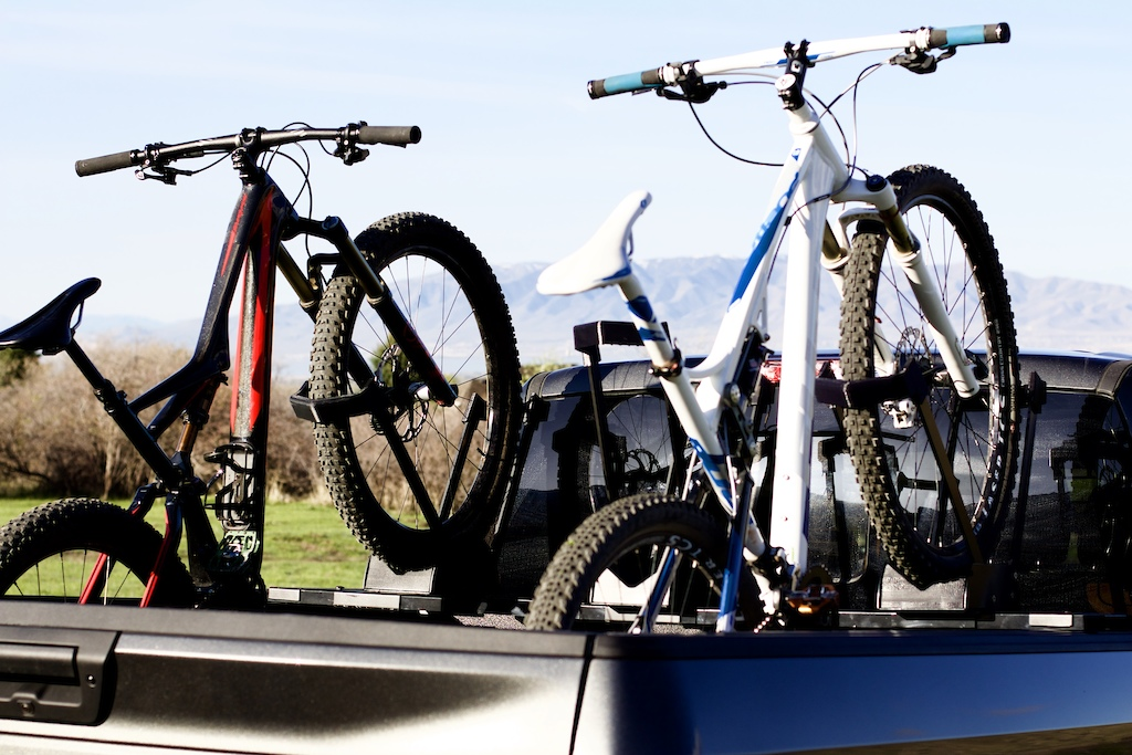 This is a picture of the 3 bike rack.  We will be at Sea Otter classic right by the food and restrooms.  Come stop by!