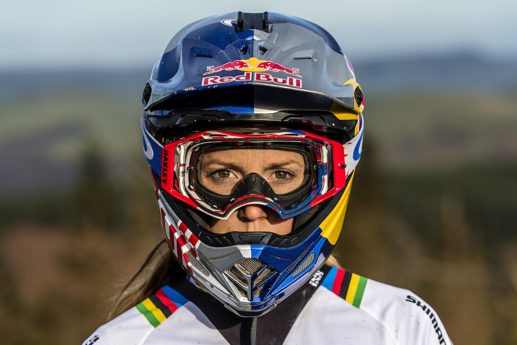 Rachel Atherton poses for a portrait during Red Bull photoshoot in Aberystwyth Wales UK on March 09 2017 Olaf Pignataro Red Bull Content Pool P-20170319-00327 Usage for editorial use only Please go to www.redbullcontentpool.com for further information.