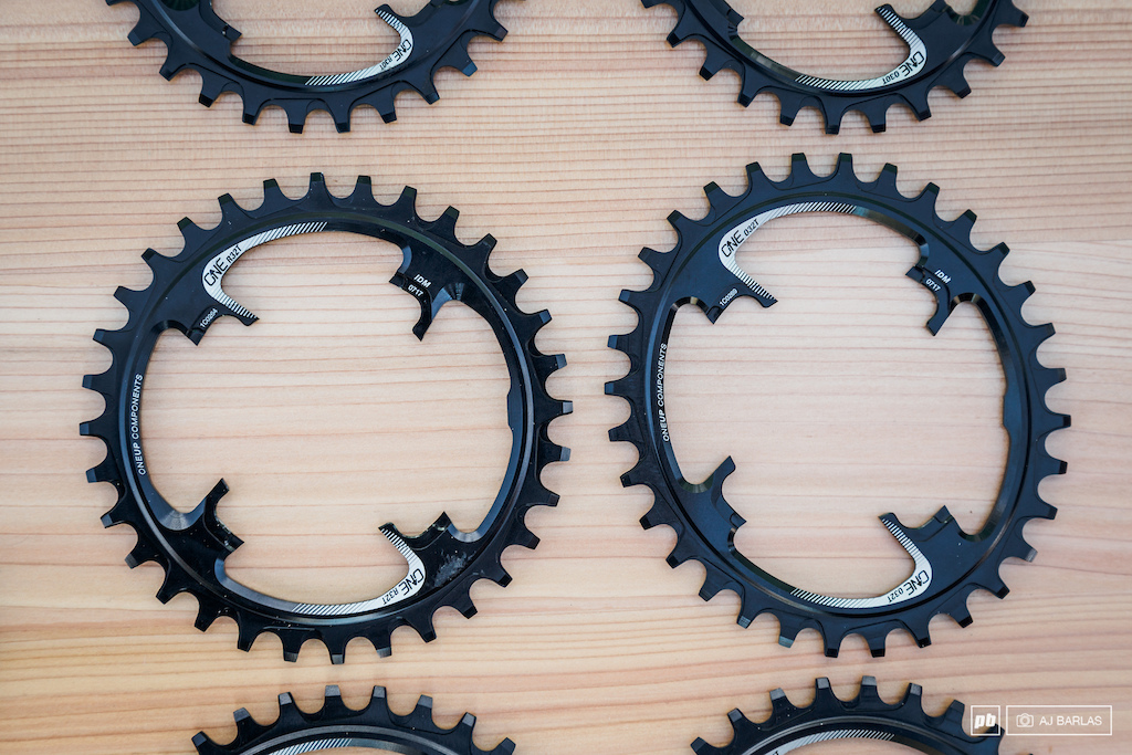 OneUp Components Switch chainrings. Their Switch ring and spider system replaces any direct mount chainrings that the brand did in the past.