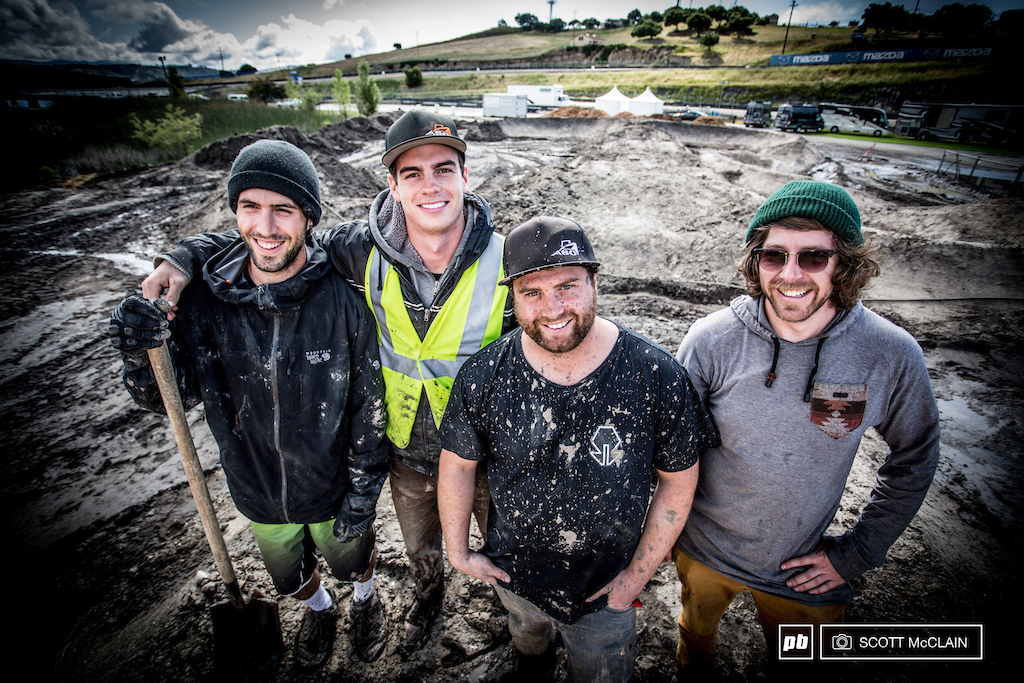 The crew from Action Sports Construction got down and dirty Tuesday and they had their work cut out for them.