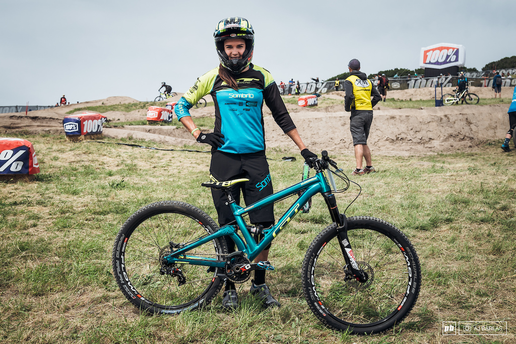 "Anneke Beerten was running a GT Distortion, which is their 26"" wheeled bike that Tyler McCaul rides."
