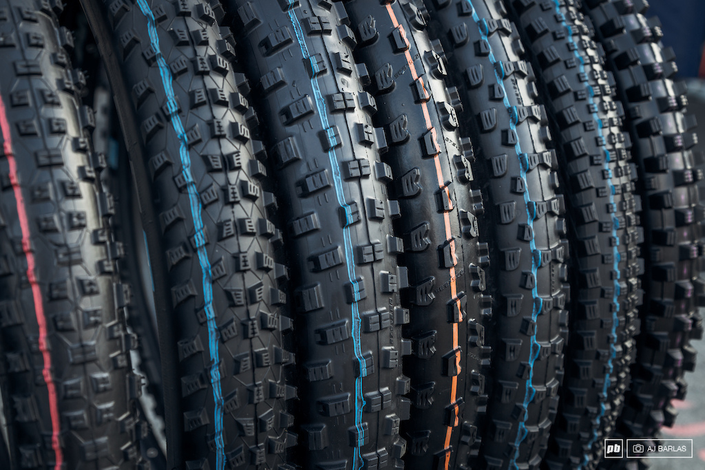 A range of Schwalbe s new Addix tire compounds.