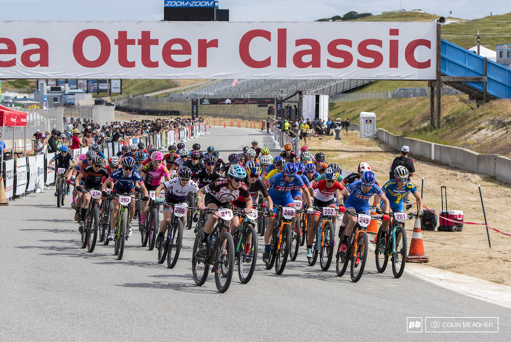 Full tilt boogie right outta the gate. There is no real hole shot for the single track at the Sea Otter. Instead it s nearly a kilometer of full gas straight up a hill.