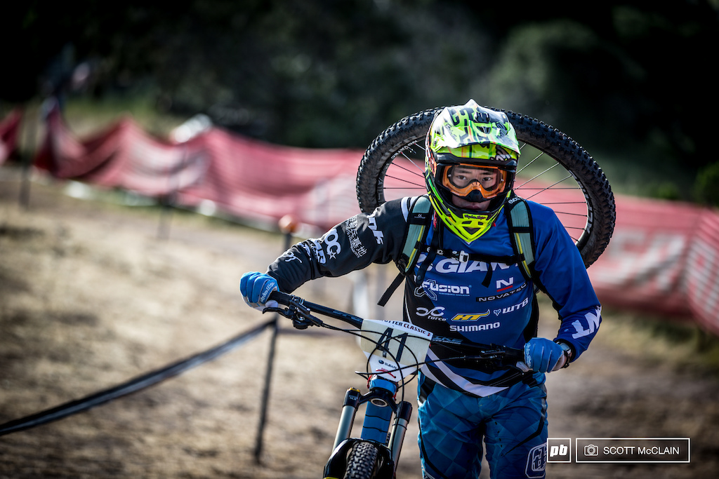 I m pretty sure Dan Sheng Shan Chiang from New Taipei City was prepped for every scenario heading up to practice this morning or maybe he thought it was an enduro race