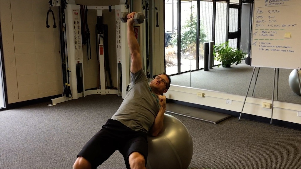 Single Arm Chest Press and Reach 2