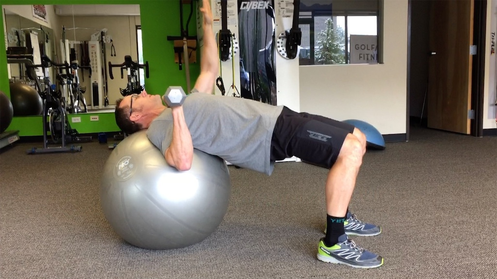 Single Arm Chest Press and Reach 1