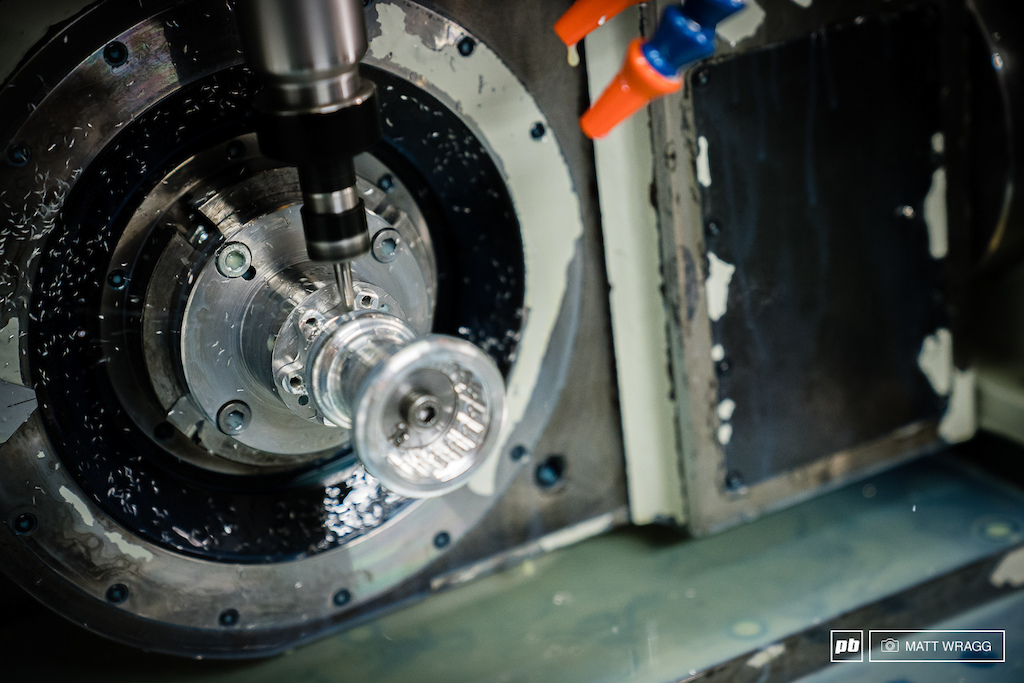 The second machining is for the fine detail and precision, removing any excess material.