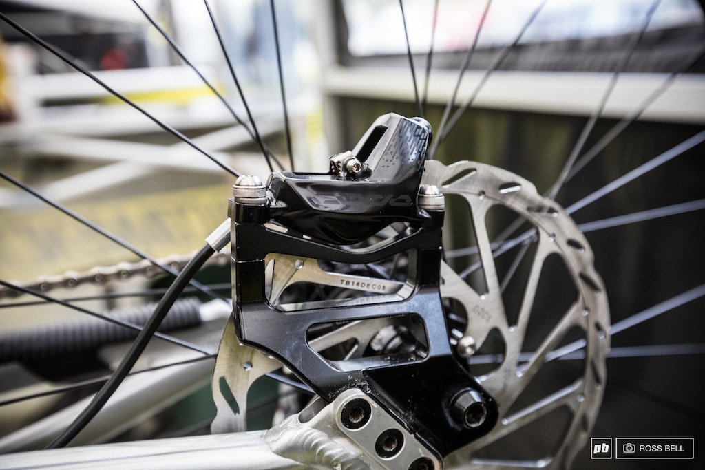 SRAM launched the new Code brakes this week and are already plugged onto their factory team bikes.