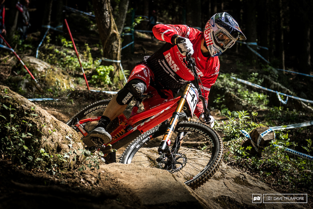 Gee Atherton was looking steady all day and would take the top time in the afternoon's timed session.