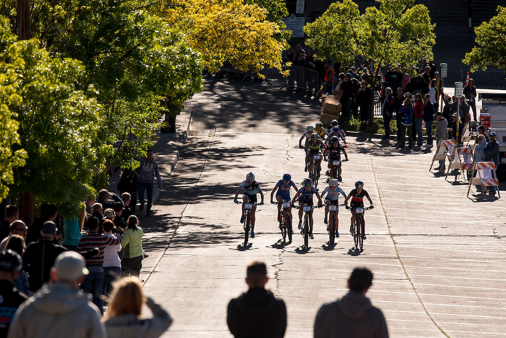 The pro women s Fat Tire Criterium begins the climb in downtown Prescott on Friday.