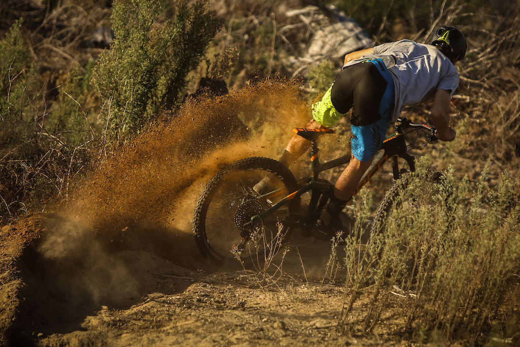Henry kicking up some dirt on his Range. Thomas Gaffney photo.