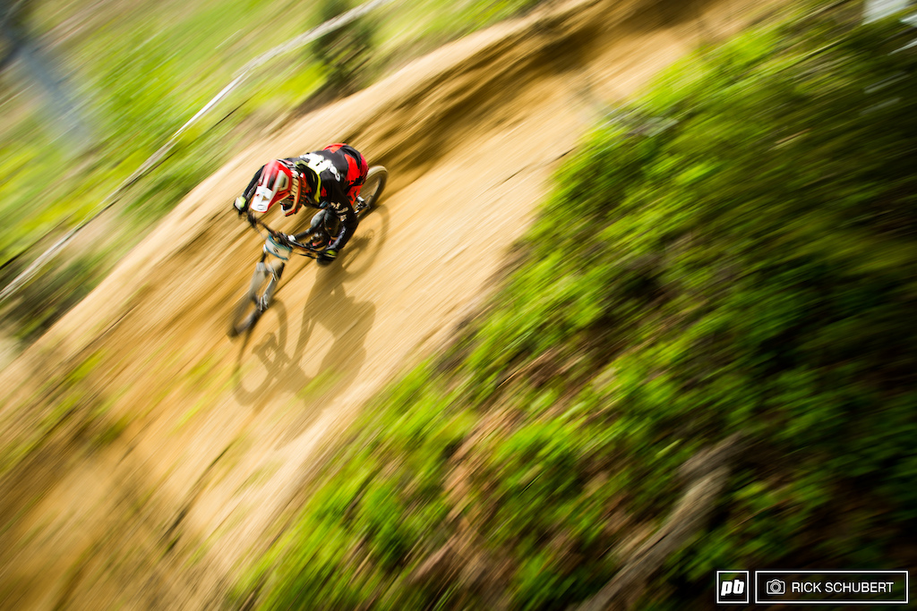 Francesco Colombo railing one of the big berms