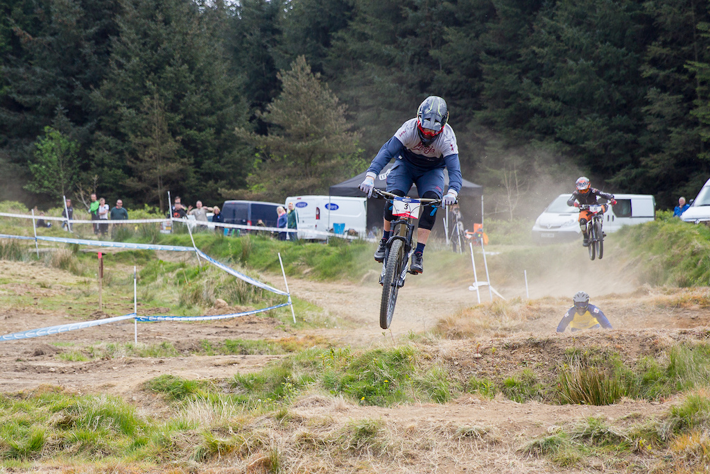 during round 3 of The Schwalbe British 4X Series at Afan Forrest Port Talbot United Kingdom. 7May 2017 Photo Charles Robertson