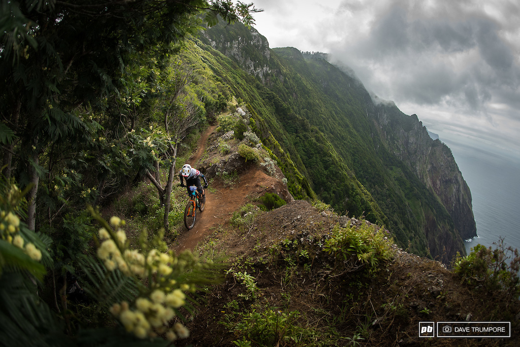 Jesse Melamed s wheel exploded after riding with a flat tire and he said the only reason he kept going was because he wanted to be sure he left Madeira with a photo from the epic view on Stage 8... Well Jesse here s that photo.