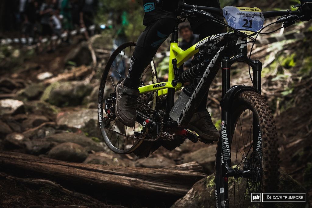 Stage 7 was carnage with big crashes broken frames and punctures. When all was said and done three of the mornings top five riders were out of contention.