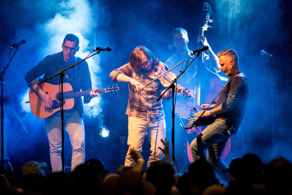 The Infamous Stringdusters headlined the music festival on Saturday night.