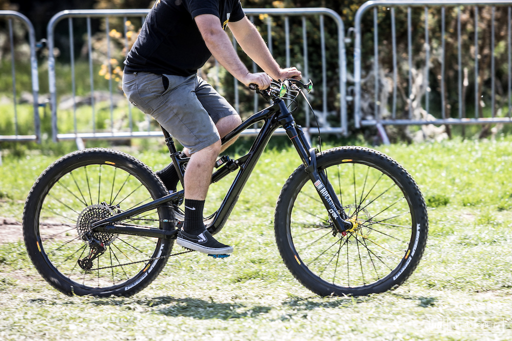 A big move for Nukeproof with their first carbon frame how will Sam fare on in this weekend