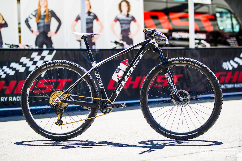 The Ghost Lector teambike is one of the most tricked-out bikes in the World Cup circuit.