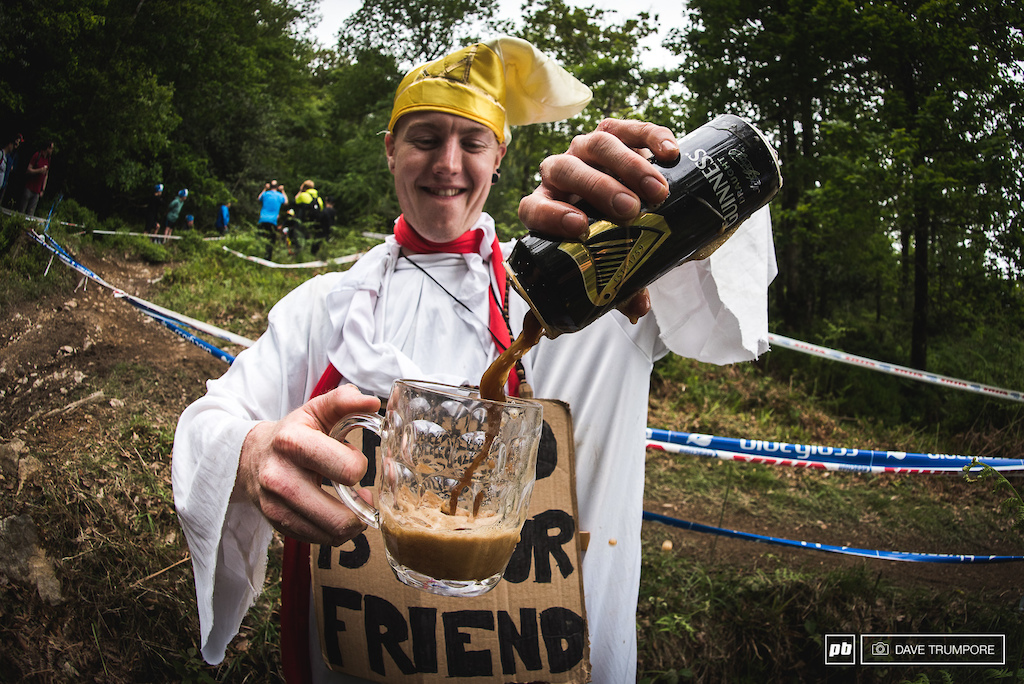 Mid-track Guinness poured by the Pope?  Who could say no to that.