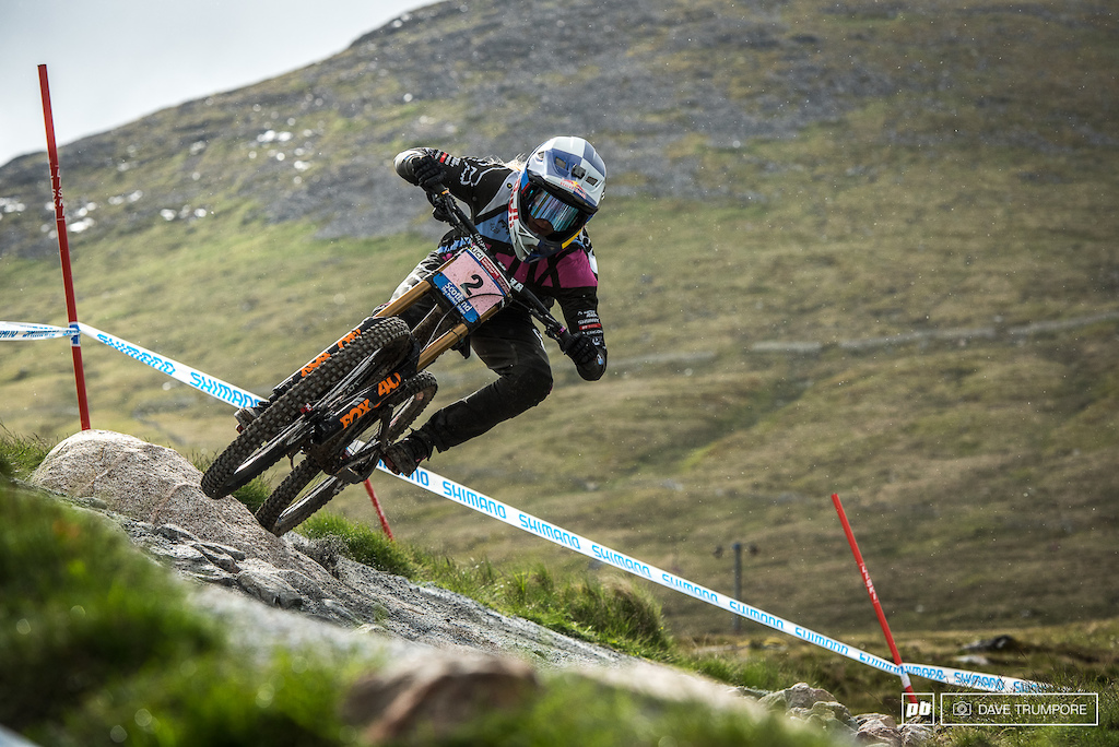 Tahnee Seagrave has the number two plate this weekend and is looking to be on pace to give Rachel a run for it in Fort William.