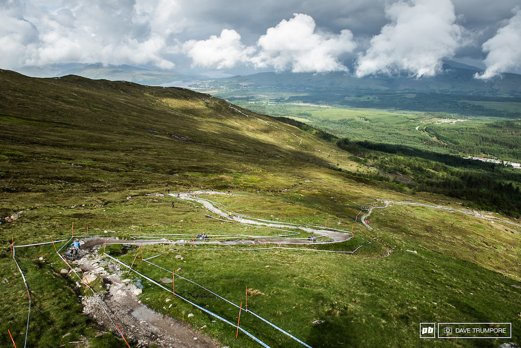 The track in Fort William just goes and goes and goes a bit more.  All the while beating up your arms and legs.