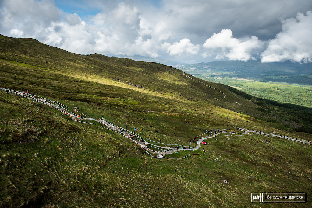 The track in Fort William is beautiful freeway of rock and granite down some lush Scottish countryside.