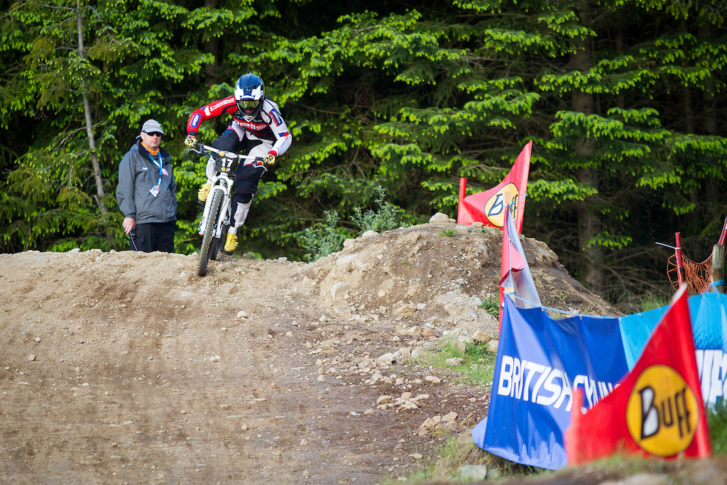 Open practice and qualifying during round 3 of The 2017 4X Pro Tour at Nevis Range, Fort William, Scotland, United Kingdom on June 02 2017. Photo: Charles A Robertson