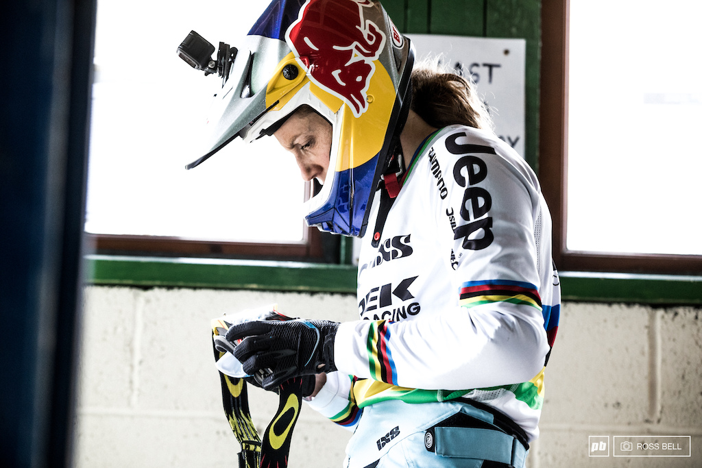 Rachel Atherton s amazing streak would soon come crashing down. Fingers crossed she won t be out too long.