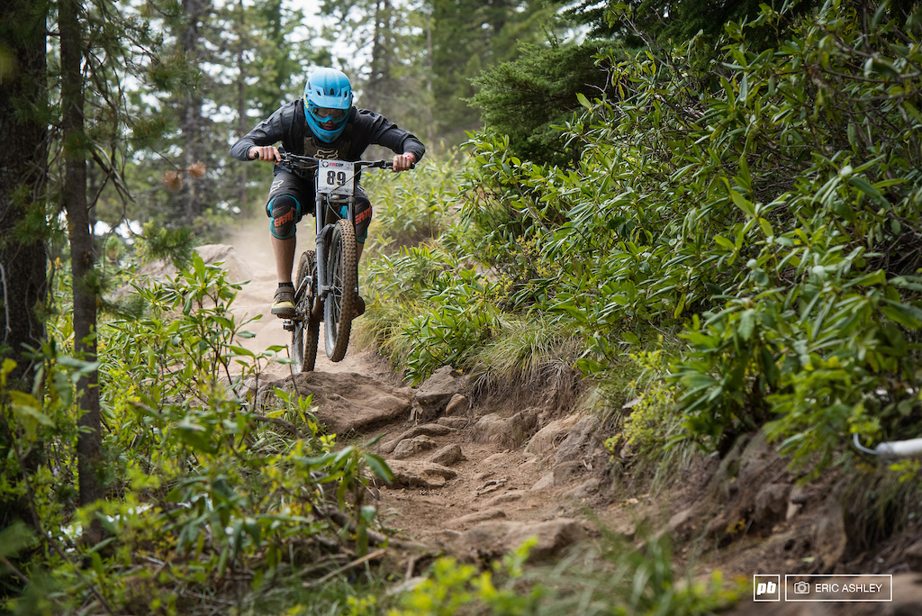 Riley Doyle kept things low and poised through the rocks for a ninth place finish Pro Men .