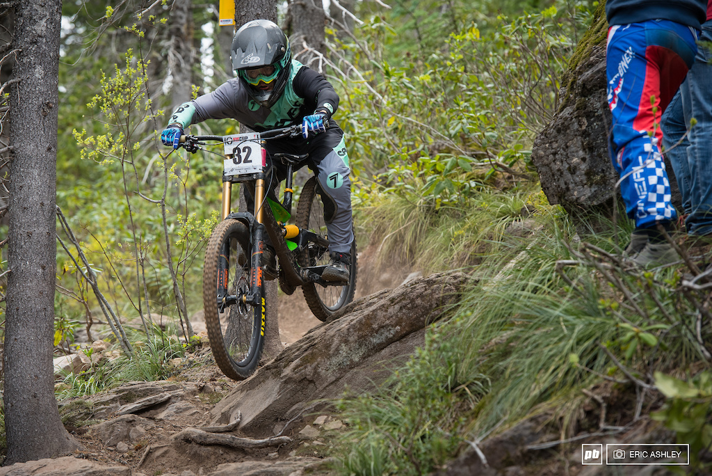 Carson Eiswald struggled throughout the weekend but hammered it all together to take second Pro Men .