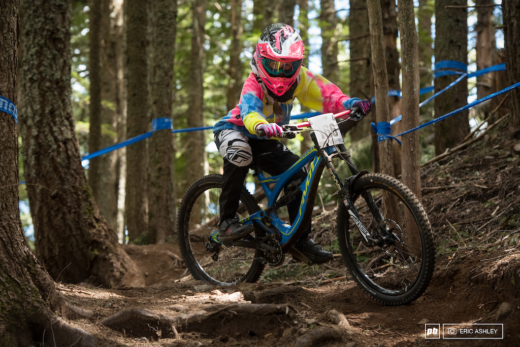 Brycelynn Bassett held her own to take third Cat 1 Women Open .