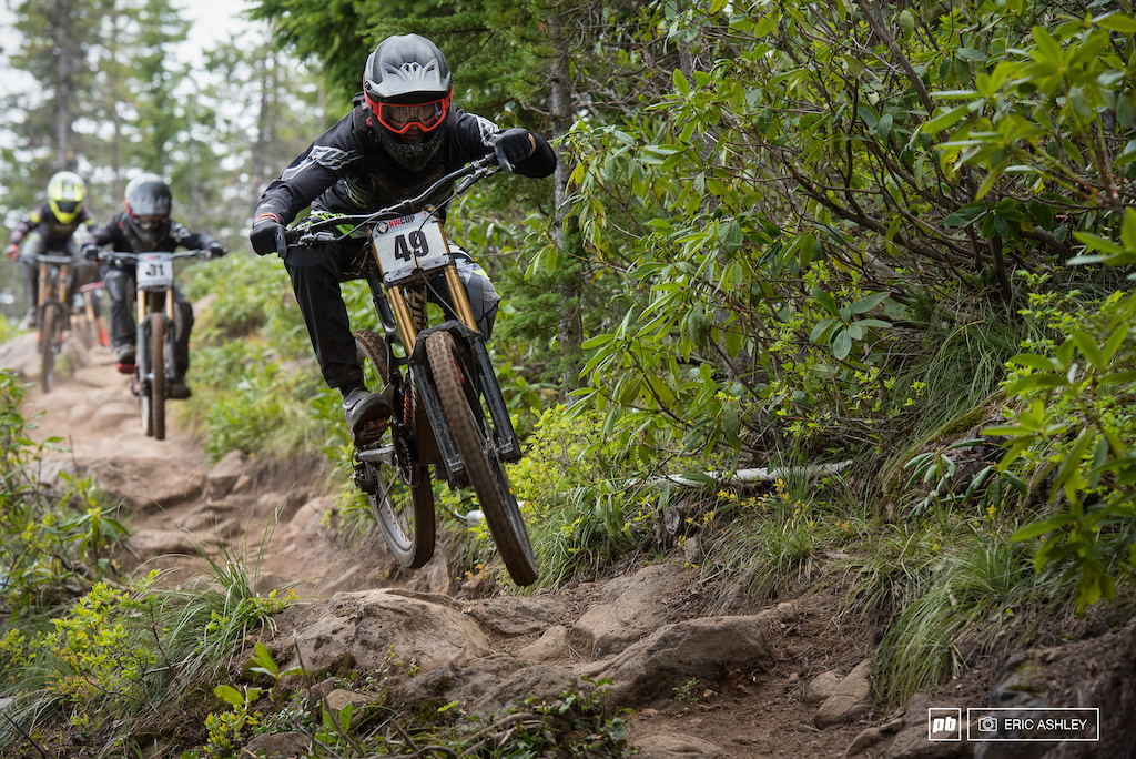 Kasper Dean partakes in some rock garden bike-train goodness Pro Men .
