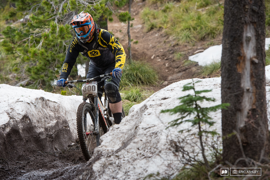 The piles of snow didn t have too much effect on conditions beyond some interesting channels and some muddy patches. Cory Yalowicki Cat 2 Men 30-39 .