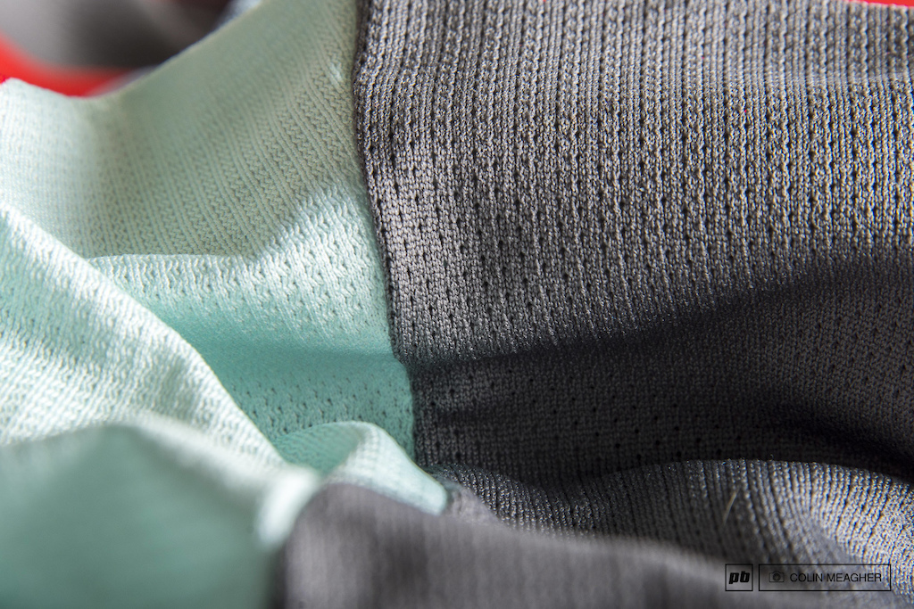 Detail on the Pearl Izumi jersey.