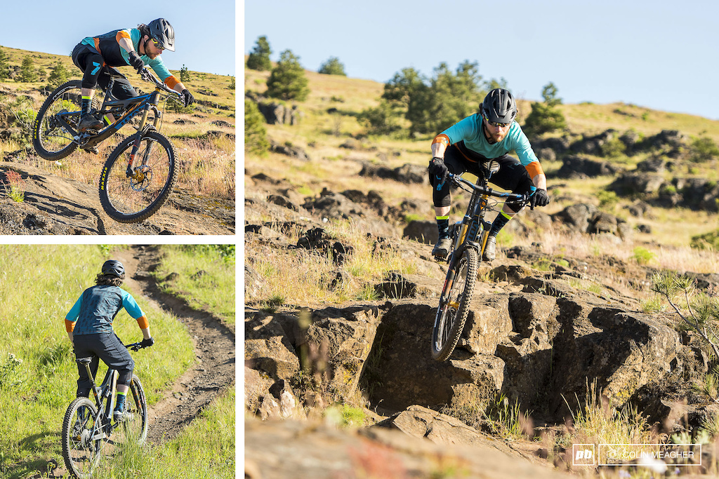Justin Fernandes with the Flare Stage Enduro Short and Stage Enduro 3 4 sleeve Jersey.
