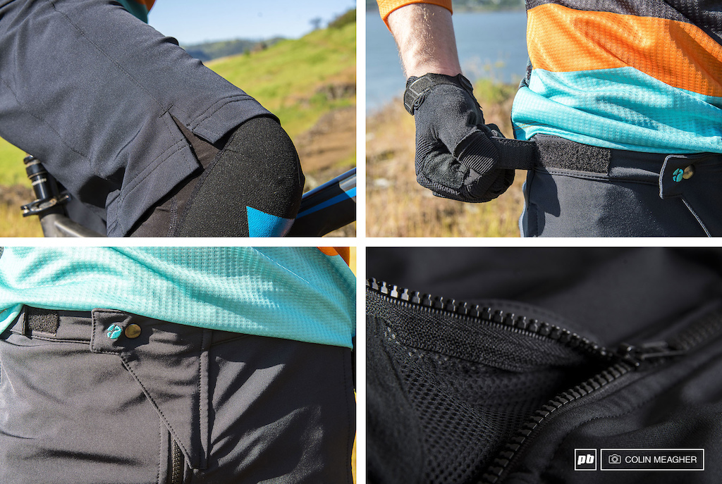 Details shots of the Stage Enduro Short a from Flare.