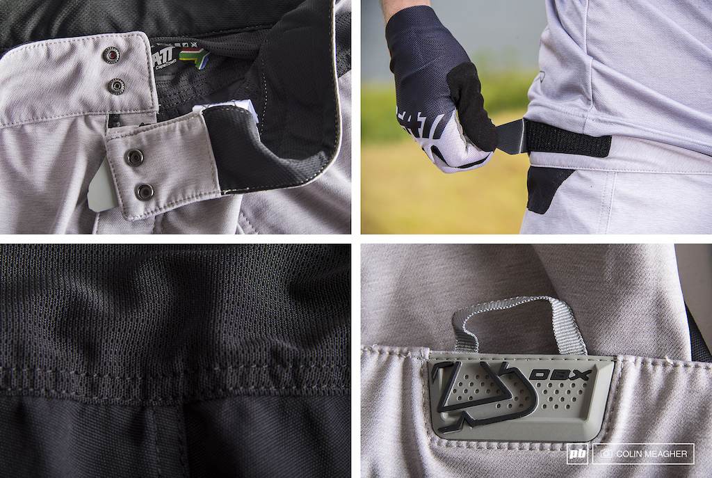 Detail images of the Leatt DBX 3.0 Short.
