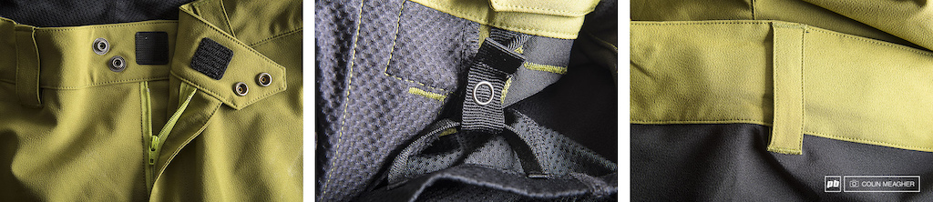 Detail images of the Pearl Izumi Launch MTB Short.