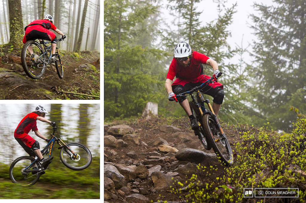 Action images of Justin Fernandes wiht the O Neal Pin It III MTB Jersey and Short.