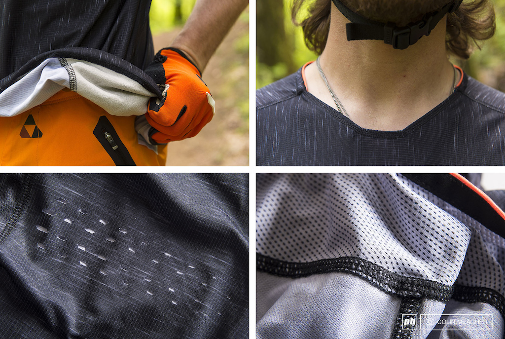 Details of the RIde 100 Celium Jersey.