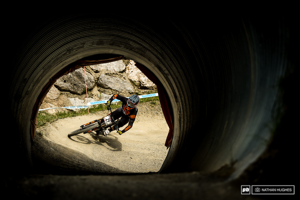 Amaury Pierron full commitment down the rabbit hole.