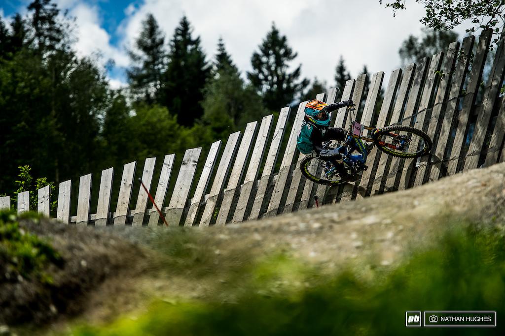 Switzerland's Emilie Siegenthaler wall-riding her way into 6th spot this arvo.