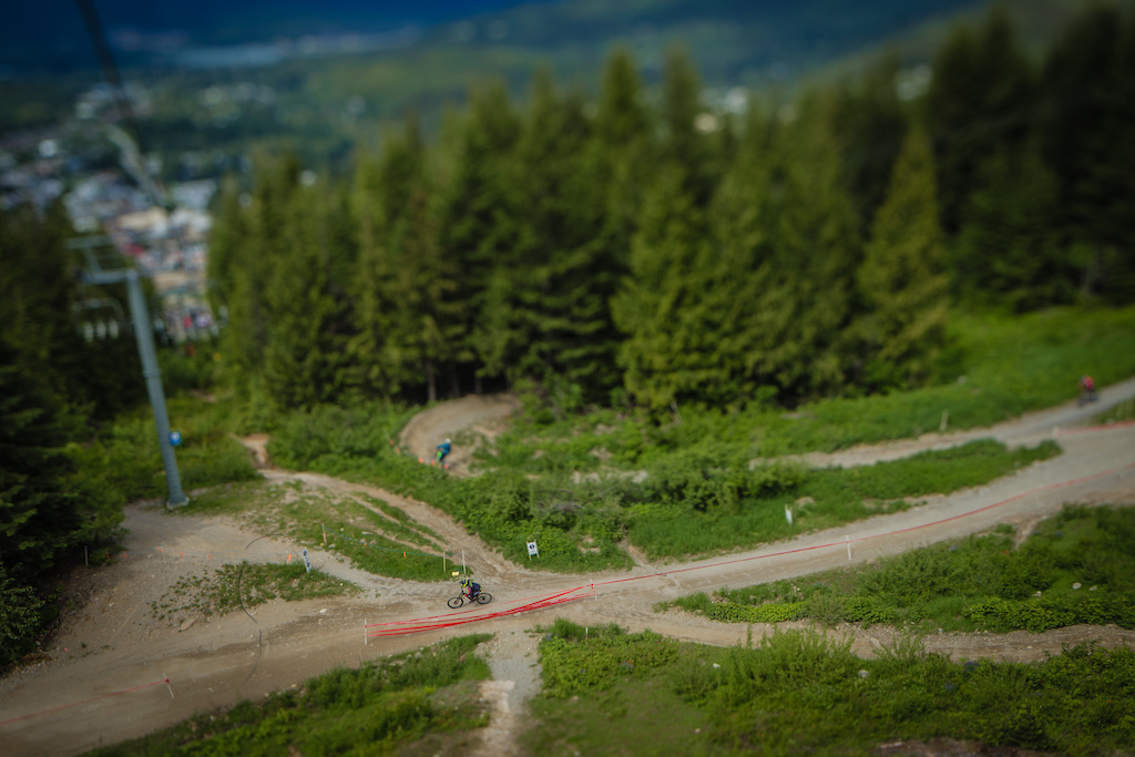 June 14th Phat Wednesday. Fantastic -> Lower Whistler Downhill -> B-Line Connector -> Afternoon Delight -> Lower Detroit Rock City (Photo by clint trahan/clinttrahan.com)