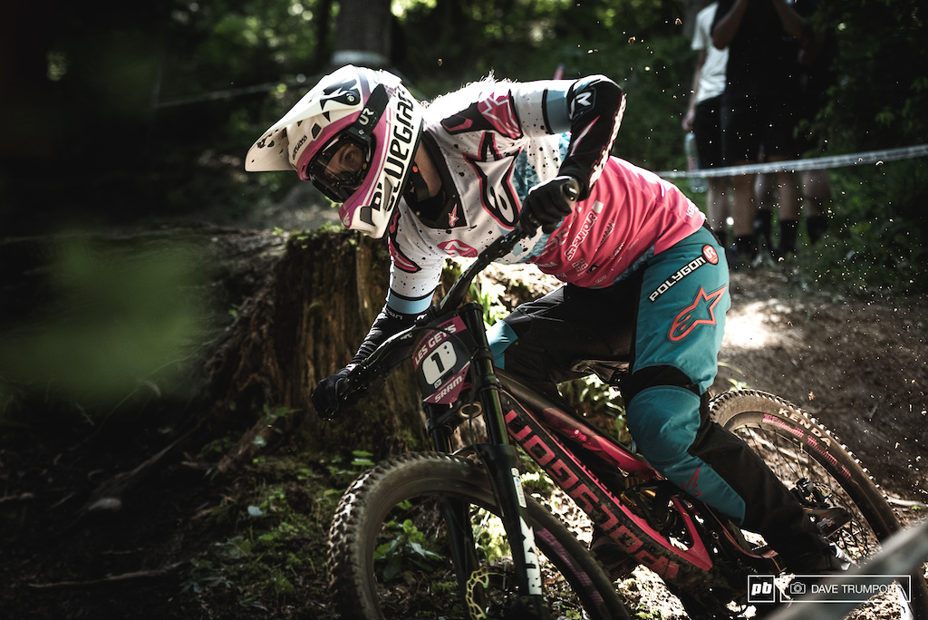 World Cup overall leader Tracey Hannah was disappointed with her in and would have to settle for 2nd today.