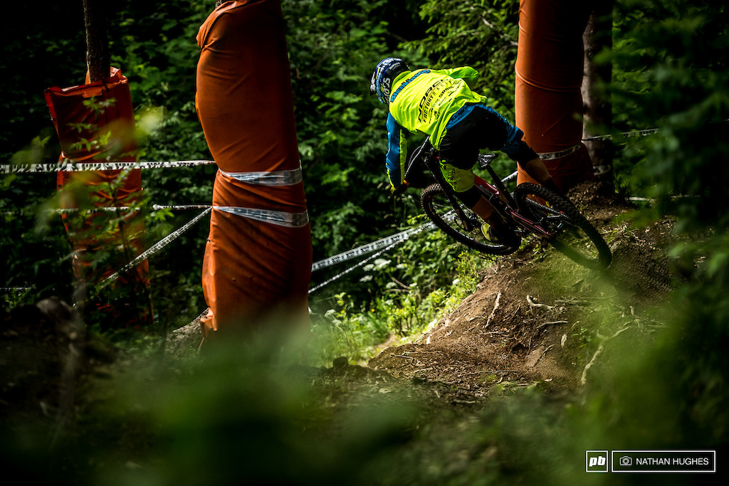 Sam Blenkinsopp enjoyed the old school vibes of the Les Gets course, but just missed out on the top 10.