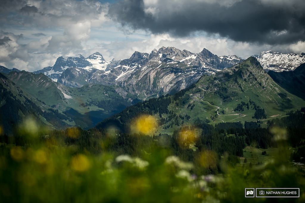 Big mountain scenes of the Portes Du Soleil.