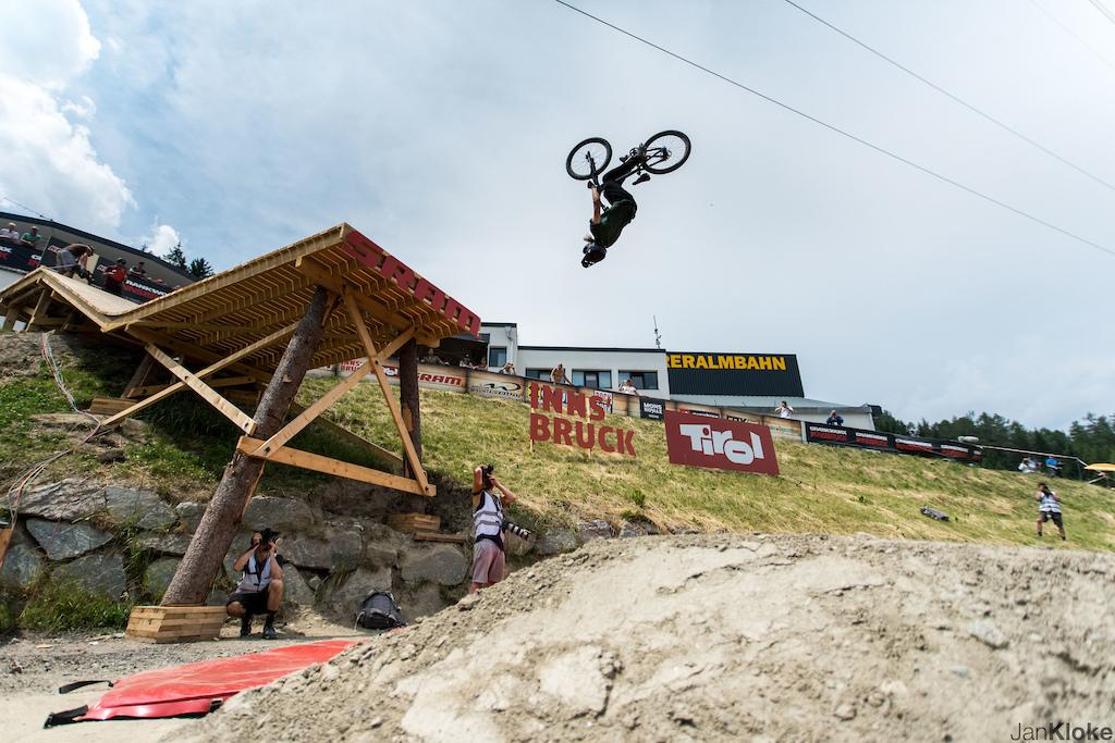 Slopestyle Finals at Crankworx Innsbruck - Photo by Jan Kloke