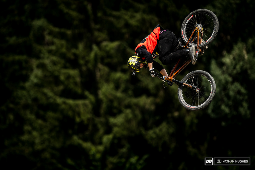 One of the most ferocious runs the World has seen on a slopestyle course no bones about it.