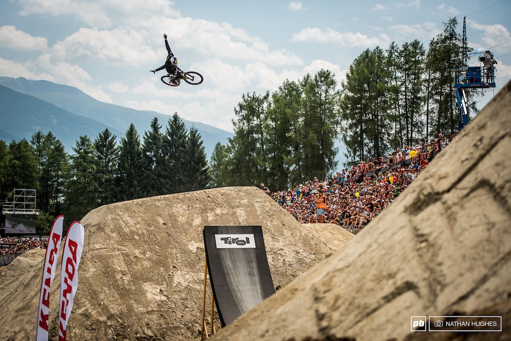 Matt Jones brought all the right moves once again but could not stick his double backflip and put a big score on the board.